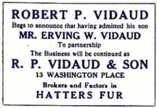 R.P. Vidaud & Son - Ad
