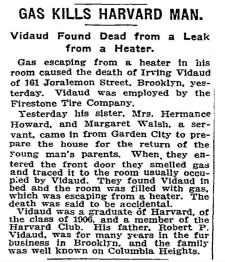 Vidaud, Erving - Death N.Y. Times