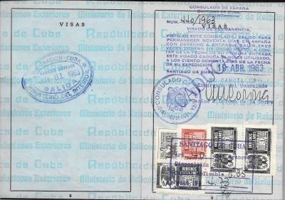 Díaz Montoro, Roberto - Visas