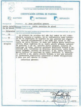 Vidaud Caignet, Mª Fca. Cirila - Baptism