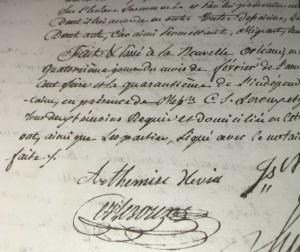 Hevia, Arthémise - Signature